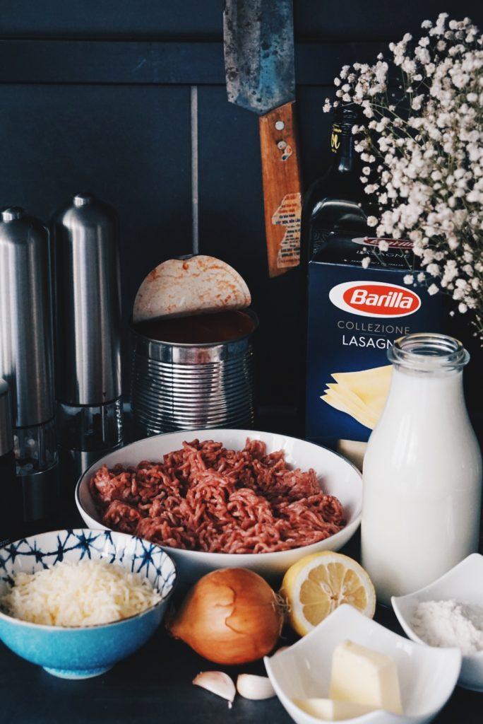 Zutaten für die Lasagne